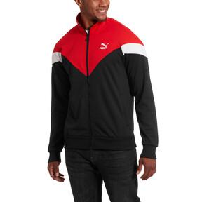 Thumbnail 1 of Iconic MCS Men's Mesh Track Jacket, Puma Black, medium
