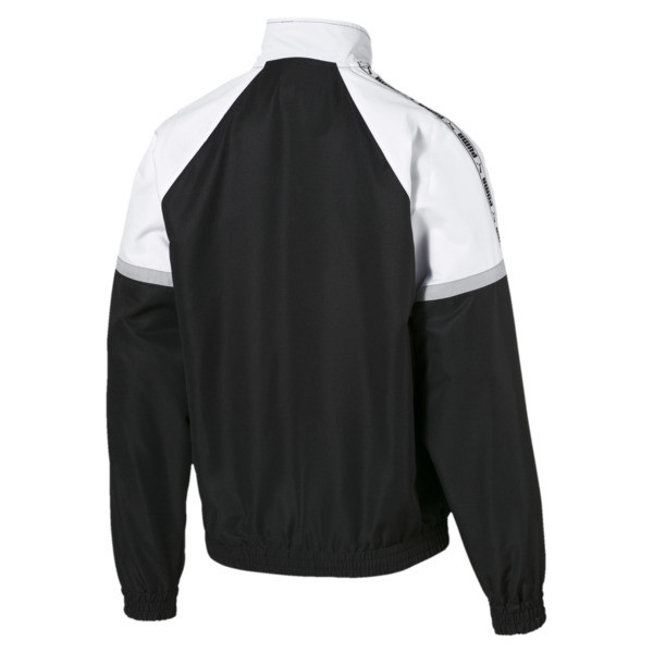 PUMA XTG Full Zip Men's Woven Jacket, Puma Black-Puma white, large