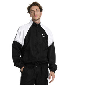 Thumbnail 1 of PUMA XTG Full Zip Men's Woven Jacket, Puma Black-Puma white, medium