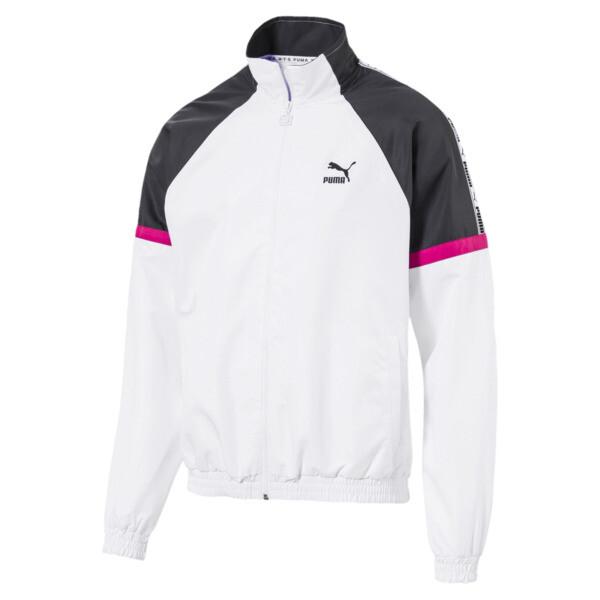 PUMA XTG Full Zip Men's Woven Jacket, Puma White-color 90s, large