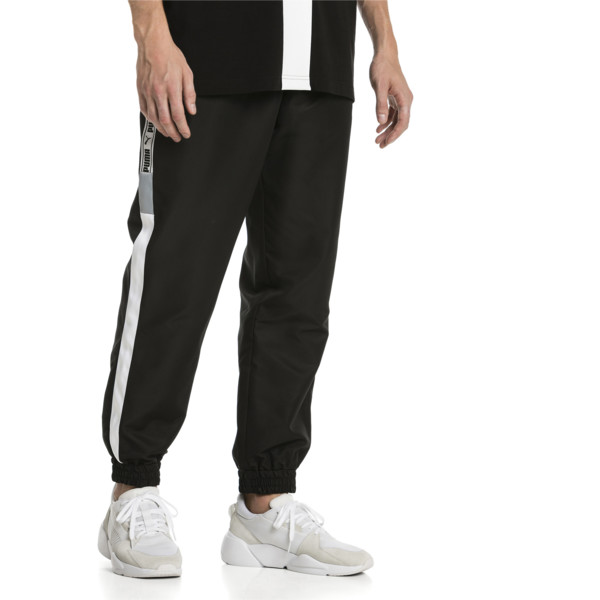 XTG Woven Men's Track Pants, Puma Black-Puma white, large
