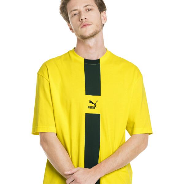 XTG T-shirt voor heren, Knalgeel, large