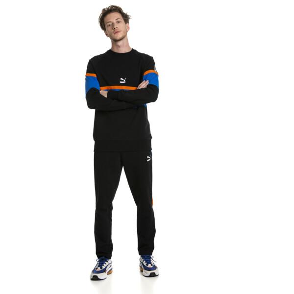 PUMA XTG Men's Long Sleeve Crewneck Sweatshirt, Cotton Black, large