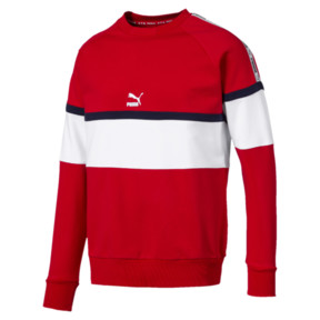 Thumbnail 1 of PUMA XTG Men's Long Sleeve Crewneck Sweatshirt, High Risk Red, medium