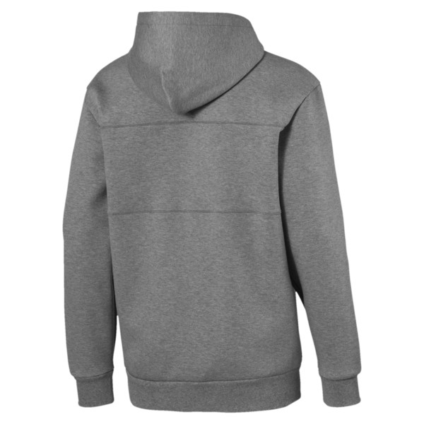 Epoch Full Zip Men's Hoodie, Medium Gray Heather, large