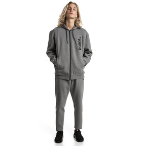 Thumbnail 5 of Epoch Full Zip Men's Hoodie, Medium Gray Heather, medium