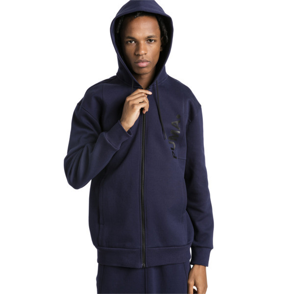 Epoch Full Zip Men's Hoodie, Peacoat, large