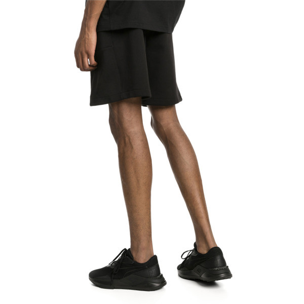 """Epoch Knitted Men's 8"""" Shorts, Cotton Black, large"""