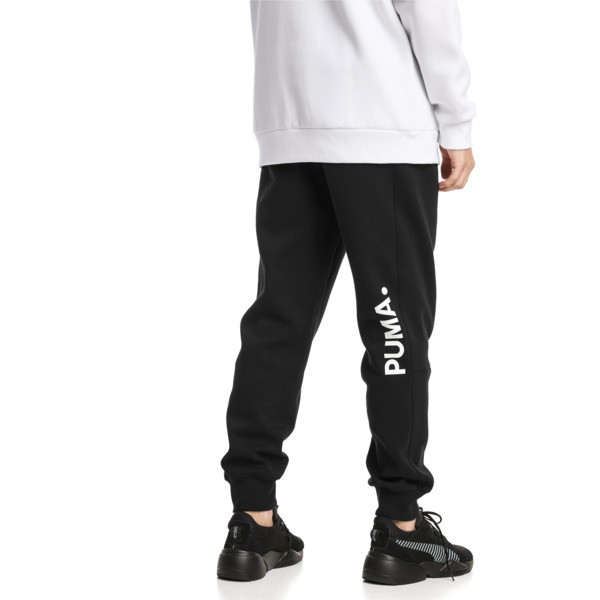 Epoch sweatpants met manchetten voor mannen, Cotton Black, large