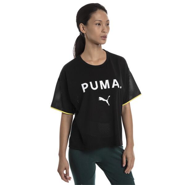 Chase Women's Mesh Tee, Puma Black, large