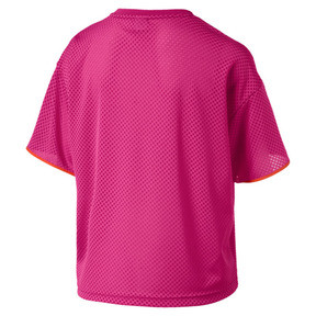Thumbnail 5 of Chase Women's Mesh Tee, Fuchsia Purple, medium