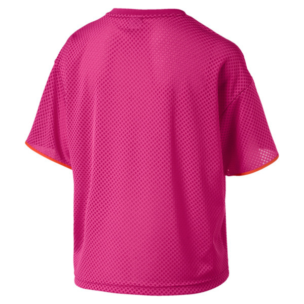 Chase Women's Mesh Tee, Fuchsia Purple, large