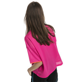 Thumbnail 2 of Chase Women's Mesh Tee, Fuchsia Purple, medium