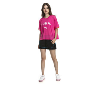 Thumbnail 3 of Chase Women's Mesh Tee, Fuchsia Purple, medium