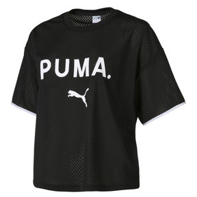 Thumbnail 1 of Chase Women's Mesh Tee, Puma Black, medium