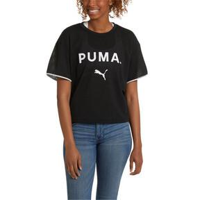 Thumbnail 2 of Chase Women's Mesh Tee, Puma Black, medium