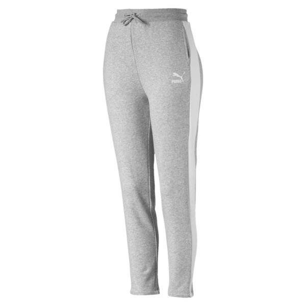 Classics Women's T7 French Terry Track Pants, Light Gray Heather, large