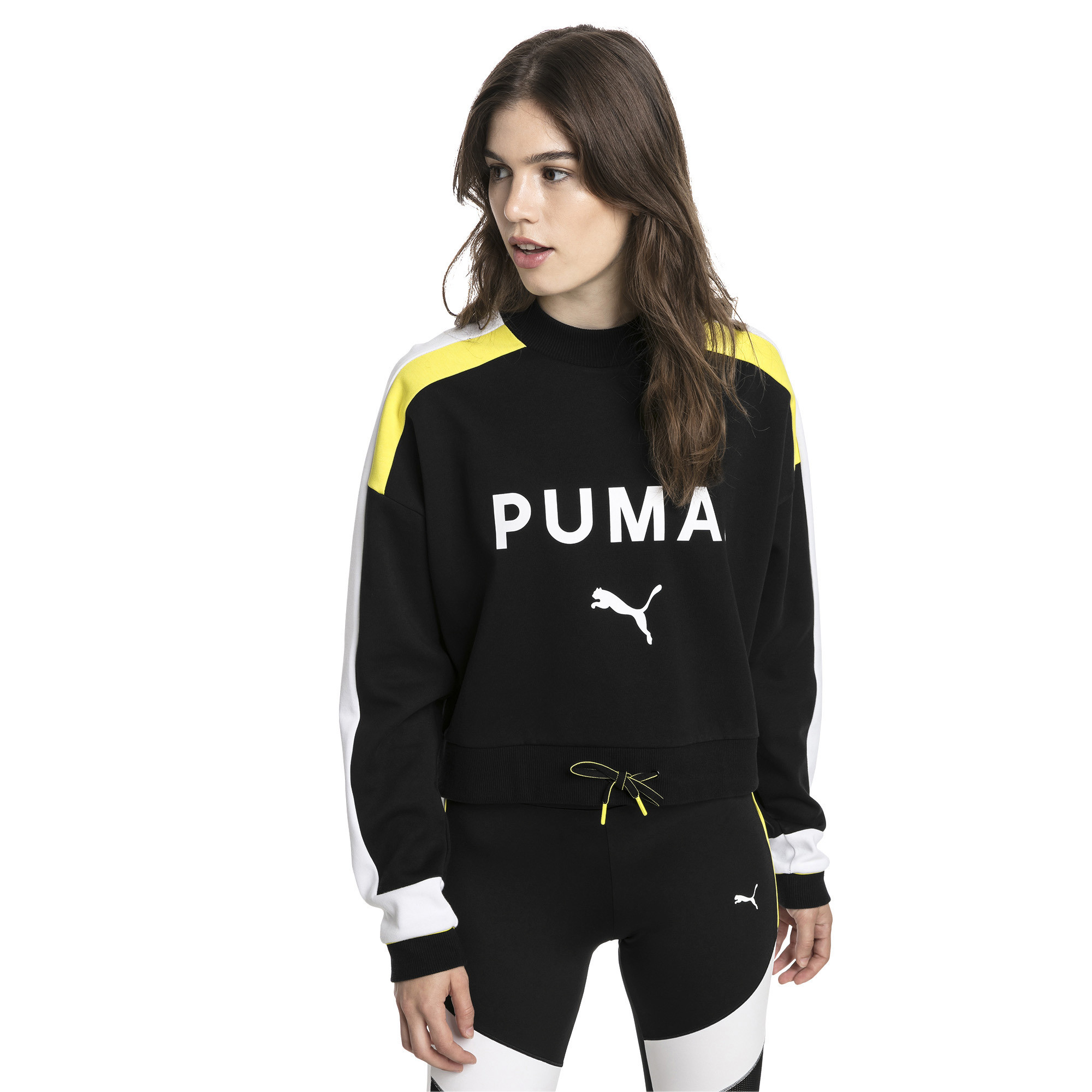PUMA-Chase-Damen-Sweatshirt-Frauen-Sweat-Neu Indexbild 4