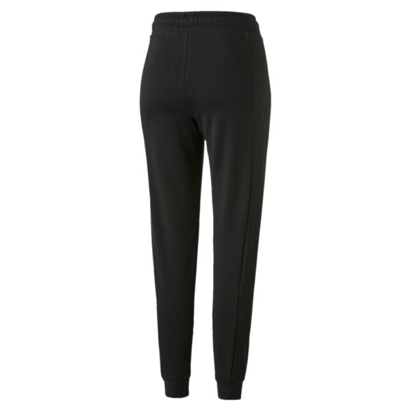 Chase Knitted Women's Sweatpants, Cotton Black, large