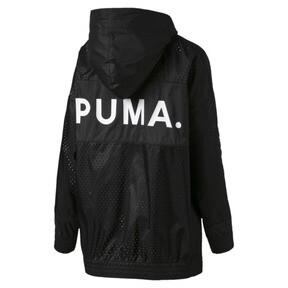 Thumbnail 4 van Chase damesjack met capuchon en rits, van geweven materiaal, Puma Black, medium