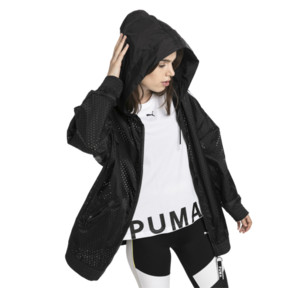 Thumbnail 2 van Chase damesjack met capuchon en rits, van geweven materiaal, Puma Black, medium