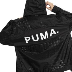 Thumbnail 3 van Chase damesjack met capuchon en rits, van geweven materiaal, Puma Black, medium