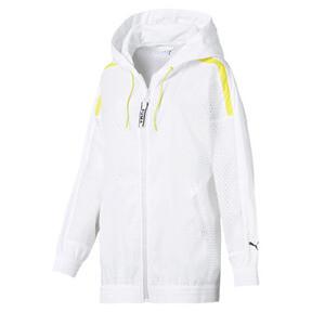 Thumbnail 1 of Chase Woven Full Zip Hooded Women's Jacket, Puma White, medium
