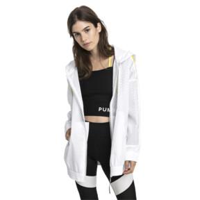 Thumbnail 2 of Chase Woven Full Zip Hooded Women's Jacket, Puma White, medium