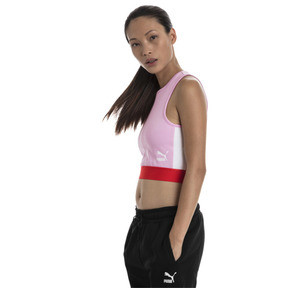 Thumbnail 1 of XTG Cropped Women's Top, Pale Pink, medium