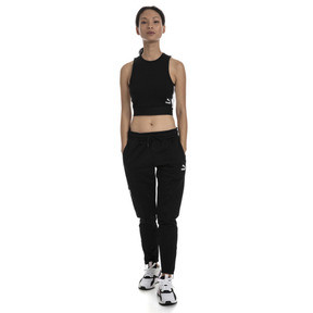 Thumbnail 3 of XTG Cropped Women's Top, Puma Black, medium
