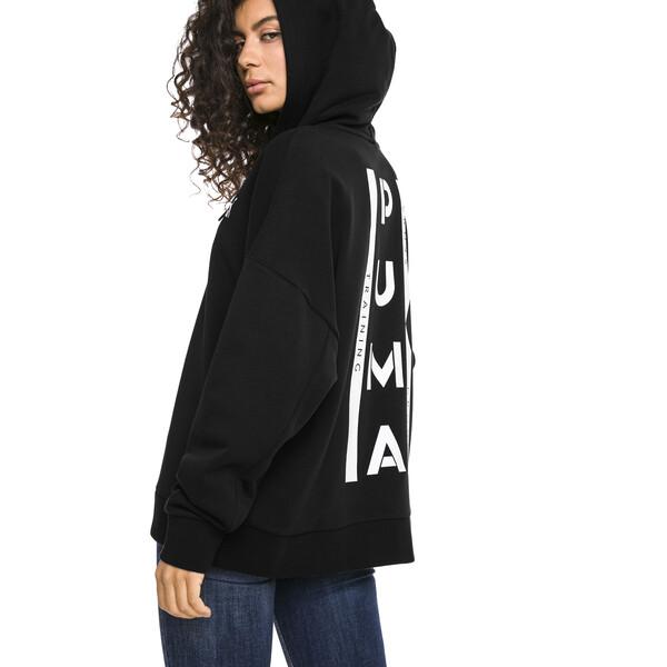 XTG Half Zip Damen Hoodie, Cotton Black, large