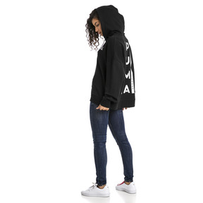 Thumbnail 3 of XTG Half Zip Women's Hoodie, Cotton Black, medium