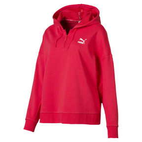 Thumbnail 1 of XTG Half Zip Women's Hoodie, Hibiscus, medium