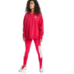 Thumbnail 5 of XTG Half Zip Women's Hoodie, Hibiscus, medium