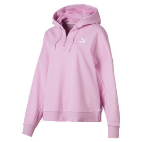 Thumbnail 4 of XTG Half Zip Women's Hoodie, Pale Pink, medium