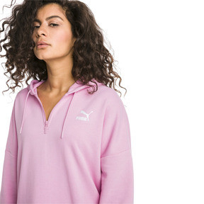 Thumbnail 1 of XTG Half Zip Women's Hoodie, Pale Pink, medium