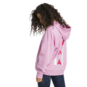 Thumbnail 2 of XTG Half Zip Women's Hoodie, Pale Pink, medium