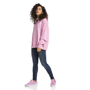 Thumbnail 3 of XTG Half Zip Women's Hoodie, Pale Pink, medium