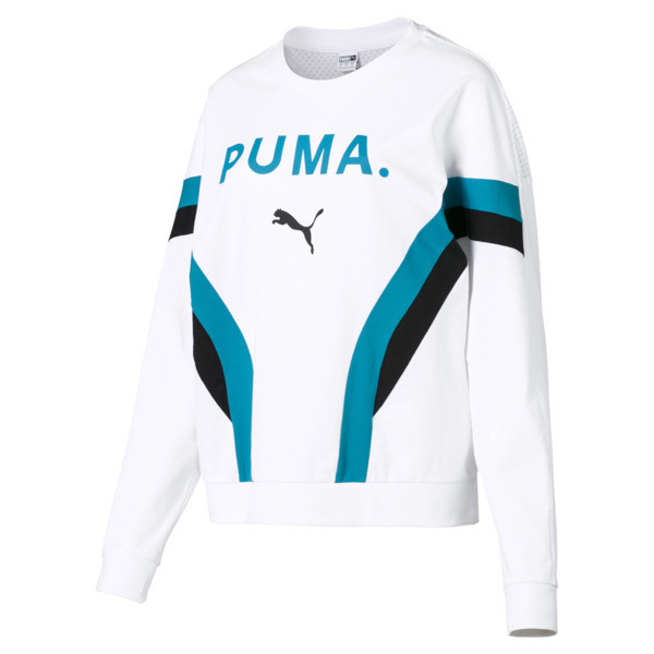 Chase Long Sleeve Women's Pullover, Puma White, large