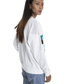 Thumbnail 2 of Chase Long Sleeve Women's Pullover, Puma White, medium