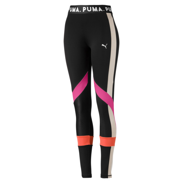 Chase Women's Leggings, Puma Black-Fuchsia Purple, large