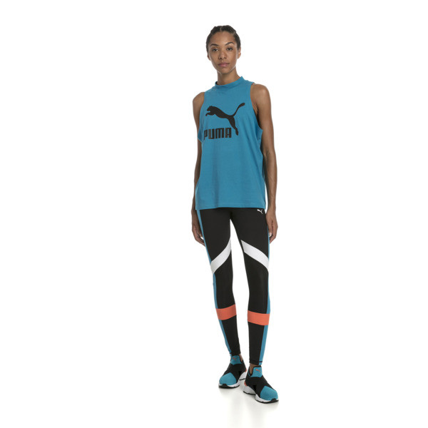 Chase Women's Leggings, Puma Black-Caribbean Sea, large
