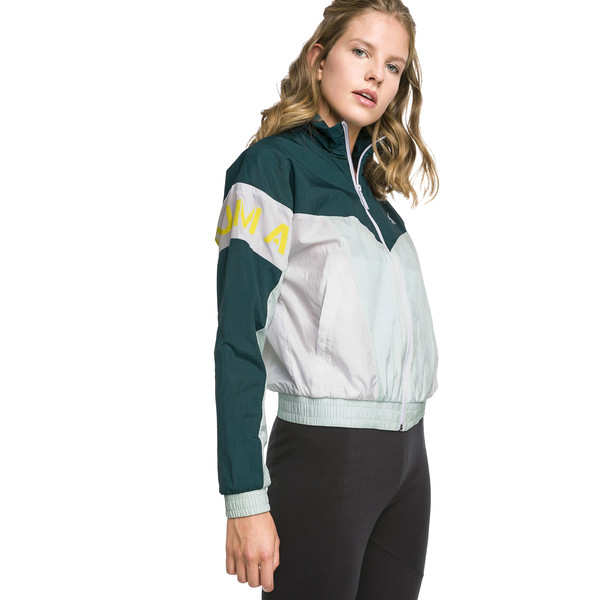 PUMA XTG 94 Woven Women's Windbreaker, Fair Aqua, large