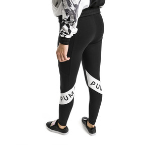 Imagen en miniatura 2 de Leggings de mujer XTG, Cotton Black, mediana