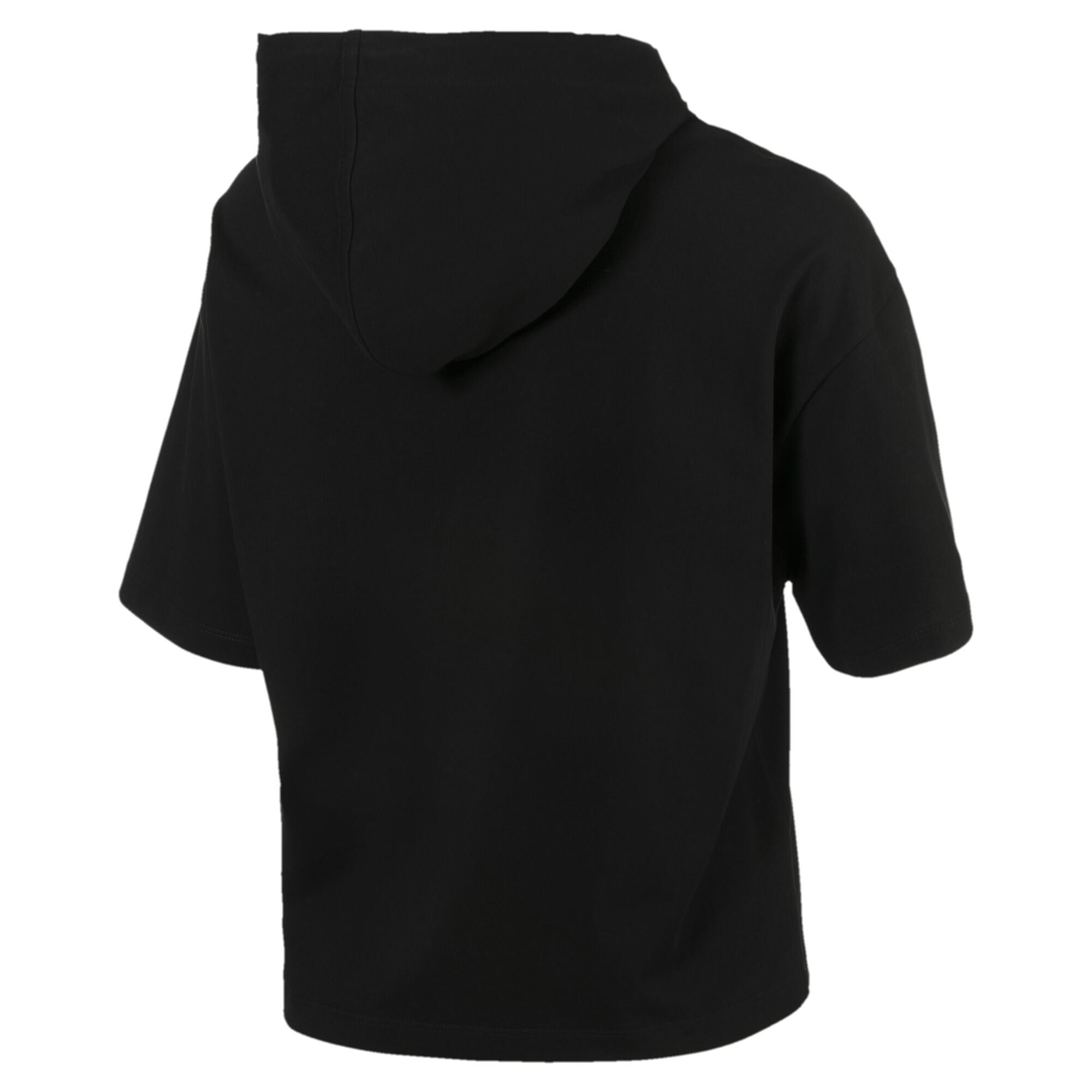 Image Puma Classics Short Sleeve Hooded Women's Top #2