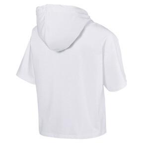 Thumbnail 4 of Classics Short Sleeve Hooded Women's Top, Puma White, medium