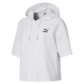 Thumbnail 1 of Classics Short Sleeve Hooded Women's Top, Puma White, medium