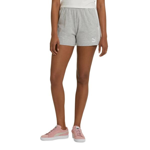 Classics Women's T7 Shorts, Light Gray Heather, large