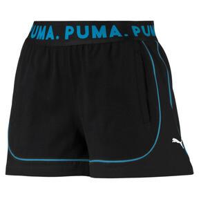 Miniatura 4 de Shorts Chase para mujer, Cotton Black-Caribbean Sea, mediano