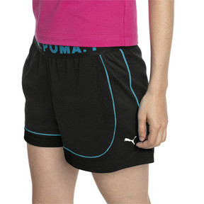 Miniatura 1 de Shorts Chase para mujer, Cotton Black-Caribbean Sea, mediano